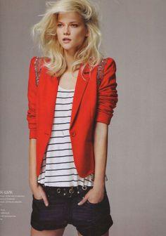 red blazer.