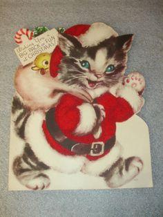 Vintage Marjorie Cooper Christmas Card. Darling!