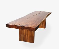 chunky wood table