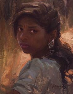 Pretty Girl Face, Oil Portrait, Portrait Paintings, Traditional Paintings, Black Women Art, Classical Art, Renaissance Art, Figure Painting, Female Art