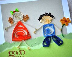 Boy and Girl Quilling Patterns, Quilling Designs, Quilling Ideas, Paper Quilling For Beginners, Paper Quilling Cards, Quilling Tutorial, Handmade Birthday Cards, Blank Cards, Boy Or Girl