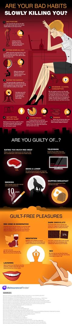 Are Your Bad Habits Slowly Killing You? Check Out This Great Health Infographic For Important Health and Wellness Tips
