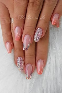 55 Stylish Coffin Nail Designs To Copy Right Stylish Coffin Nail Designs To Copy Right Now Honeycomb Nail Art See We loved this nail art model, which is reminiscent of honeycomb. Fancy Nails, Pink Nails, Glitter Nails, Cute Nails, Gel Nails, Coffin Nails, Toenails, Purple Glitter, Nail Nail