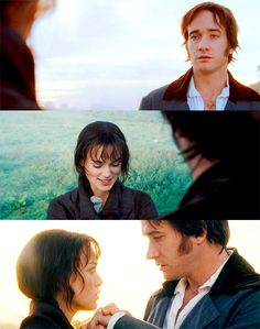 Pride and Prejudice (2005) Elizabeth Bennet and Mr. Darcy (Keira Knightly and Matthew Macfeyden)