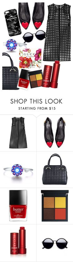 """""""the dark days of August"""" by ivyfanfic ❤ liked on Polyvore featuring Versace, Love Moschino, Fresh and Mr. Gugu & Miss Go"""