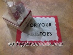 Savingsinseconds.com  Secret Pal or Secret Santa gift idea --- for your mistletoes