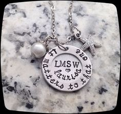 Social Worker Gift, Counselor Gift, lmsw Necklace,  Professional Jewelry Necklace, BSW, MSW, lsw, csw, graduation gift