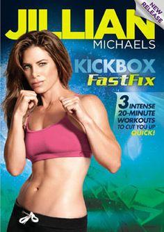 Jillian Michaels Kickbox Fast Fix...I wanna try this!