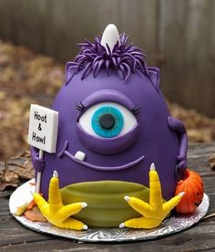 Cake Wrecks - Home - Sunday Sweets: Here There Be MONSTERS A One Eyed One Horned Flying Purple People Eater