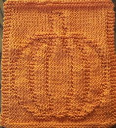 Needed: 1 skein of orange or golden yellow cotton yarn and size 7 needles. CO 42 stitches. Rows 1-4: Knit Row 5: K3, P36, K3 Row 6: Knit (...