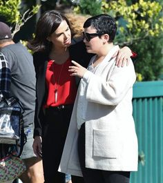 Awesome Lana and Ginny (Regina and Snow) #Once #BTS #Once #S6 E7 #Heartless #StevestonVillage #RichmondBC #Canada Tuesday 9-20-16