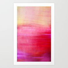 Tequila sunrise Art Print by Iris Lehnhardt - $18.00