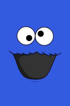 Elmo Wallpaper, Crazy Wallpaper, Disney Wallpaper, Iphone Wallpaper, Cookies Branding, Cookie Monster Party, Super Cute Animals, Pretty Wallpapers, Cute Icons