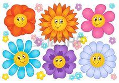 Cartoon flores colección 2 - ilustración vectorial