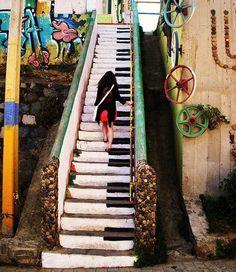 #YourArtBay.com.. Piano-like stairs :-)