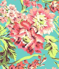 Amy Butler Bliss Bouquet Teal Fabric