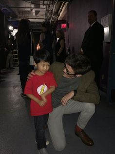 Grant Gustin and a young fan of #TheFlash at #PaleyFest - we can't stop saying Awwwwwww!