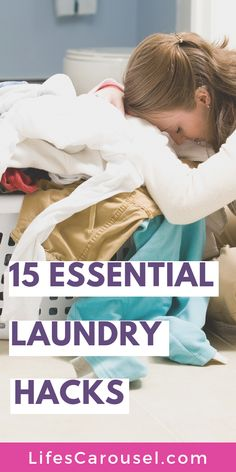 [Dirty Secrets!] 15 Laundry Tips to SAVE Time and Money! Get tips and tricks (and hacks too!) to help with keeping up with laundry. Perfect for beginners. Get your families washing done quickly with bright whites and smelling clean.