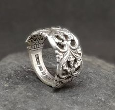 Your place to buy and sell all things handmade Silver Ingot, Spoon Rings, Silver Spoons, Statement Rings, Bracelet Watch, Initials, Rings For Men, My Etsy Shop, Wedding Rings