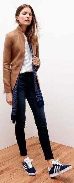 Camel Regent Blazer by Le Fashion