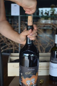Opening u a magnum of the Pfneiszl Kékfrankos Meses videk Wines, Red Wine, Alcoholic Drinks, Bottle, Glass, Alcoholic Beverages, Drinkware, Flask, Red Wines
