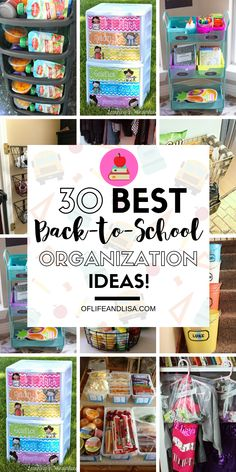 30 Genius Back to School Organization Ideas You'll Love! - Get organized for school with these DIY organization ideas! Back To School Diy Organization, Homework Organization, Diy Back To School, Craft Organization, Bedroom Organization, Organizing, Refrigerator Organization, Household Organization, Pantry Storage