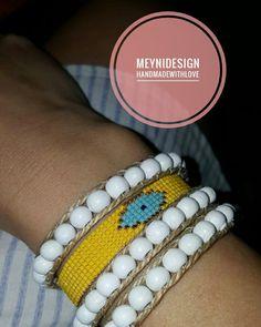 meyniiiGünaydınnnnn 🌴  Hepimizee iyi haftalar 🍉  #meynidesign #love #handmade #miyuki #miyukibeads #bracelet #handmadewithlove #style #fashion #summer #design