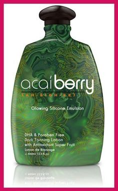 2008 Acaiberry Glowing Silicone W/dark Activators 13.5 Oz by Squeeze. $25.00. SQUEEZE 2008 ACAI Berry Glowing Silicone w/Dark Activators 13.5 oz Amazing Dark Tan Results:  Silicone Emulsion  Antioxidant Supre Fruit  Dark Tanning Activators  Up-Lifting Skin Serum  Paraben Free   DHA Free  Sweet Mango Scent Smells Awesome!! Feels Great too!