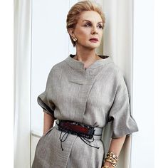 """#CarolinaHerrera captured by @harpersbazaares @mschwartzphoto celebrating #35YearsofFashion"""