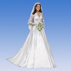 OMGoodness!!! To me, this doll looks just like the Princess.  What do you think?   Princess Kate Bride Doll - The Danbury Mint