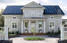 AURORA 178 C - Kannustalo Modern Farmhouse Exterior, Garage Apartments, Home Fashion, My Dream Home, My House, Farm House, Facade, Beautiful Homes, House Plans