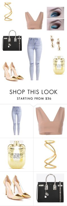"""Untitled #228"" by kimberly58227 ❤ liked on Polyvore featuring New Look, T By Alexander Wang, Victoria's Secret, Maison Margiela, Gianvito Rossi, Yves Saint Laurent, Kenneth Jay Lane, women's clothing, women and female"
