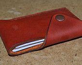 Leather Wallet-Men Wallet-Leather Card Holder Leather-Handmade Terracotta