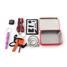 All In One Self Help Outdoor Survival Emergency Tools Box