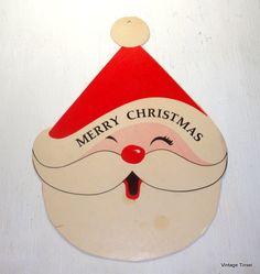 Vintage Die Cut Merry Christmas Kitschy Retro by VintageTinsel