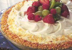 Coconut Almond Cream Pie from Eagle Brand® Sweetened Condensed Milk Crisco Recipes, Apple Recipes, Coconut Recipes, Baking Recipes, Sweet Recipes, Great Desserts, Dessert Recipes, Frozen Desserts, Lemon Chiffon Pie