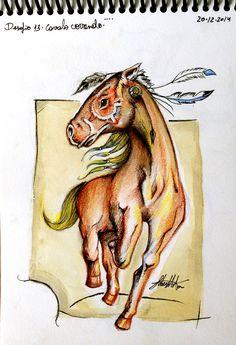 desafio dos 30 #desenhos #draw #sketchbook por #fabermota  #horse