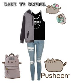 """""""#PVxPusheen"""" by kaylaxoxo24 ❤ liked on Polyvore featuring Topshop, Pusheen, contestentry and PVxPusheen"""