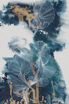 Abstract Canvas Art, Abstract Watercolor, Watercolor Illustration, Canvas Wall Art, Motifs Art Nouveau, Pop Art Wallpaper, Leaf Art, Grafik Design, Art Sketchbook