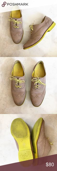 Cole Haan Oxfords Cole Haan  neon oxfords, in good condition. Same day shipping. Offers are welcome. Cole Haan Shoes Flats & Loafers