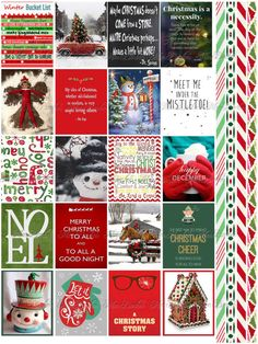 Christmas and Winter Quote Stickers Planner Printable by monbonbon