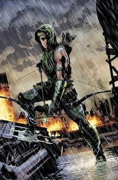 Green Arrow by Andrea Sorrentino // Click for an interview with Jeff Lemire about the new jumping on point of the series. // #comics