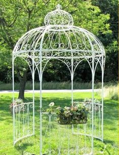 Find the best outdoor metal gazebo to buy for your needs from the many cheap outdoor metal framed gazebos for sale here. Gazebo On Deck, Garage Pergola, Garden Gazebo, Pergola Plans, Pergola Kits, Eisen Pergola, Garden Structures, Outdoor Structures, Gazebos