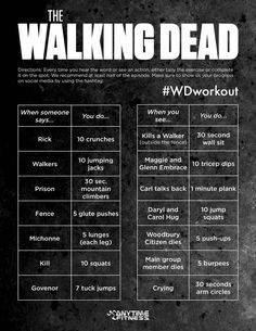 The Walking Dead Workout Game - Don't sit this Sunday! Watch AND Workout! #WDWorkout #WalkingDead