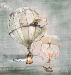Hot Air Ballon by theFiligree - Hot Air Baloons Underwater? Or Whales in the Sky?