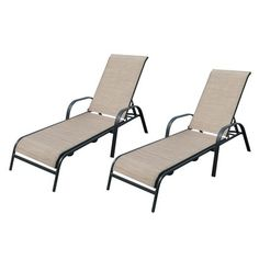 Target Home™ Dumont 2-Piece Sling Patio Chaise Lounge Set - Tan.Opens in a new window