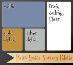 Retro Space Nursery Color Palette