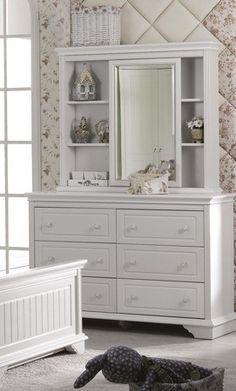 Furnish.com.au - Da Vinci Dressing Table with Bookshelf, Mirror