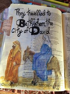 .....Scrappy Happy Mom: Advent Bible Journaling