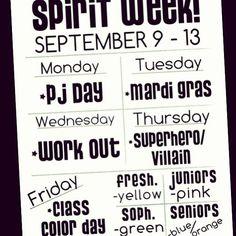 First spirit week of junior year!